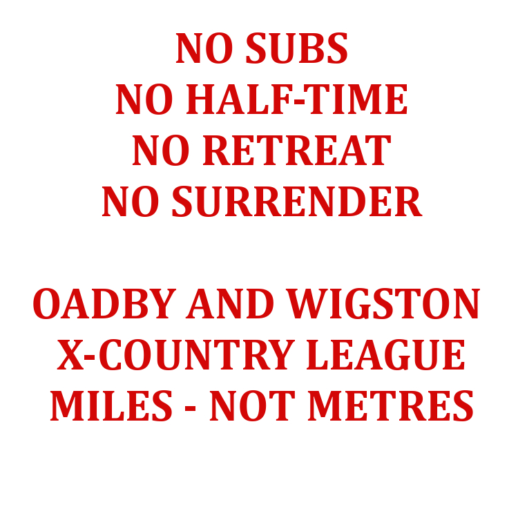Oadby and Wigston X-Country