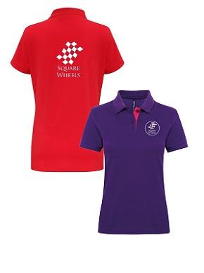Club Ladies Contrast Polo Shirt