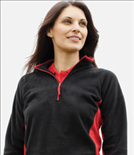 Quarter Zip Microfleece Warm-up Top