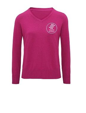 Cotton Blend Ladies V-Neck Sweater